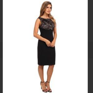 NWT Adrianna Papell Empire Lace Top Sheath Dress